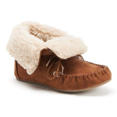 kohls mens bedroom slippers faux fur moccasin ankle boots from kohl s things i want as