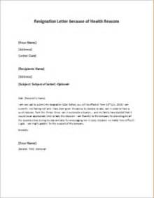 Well Written Resignation Letter by Resignation Letter Because Of Health Reasons At Http Writeletter2 Resignation