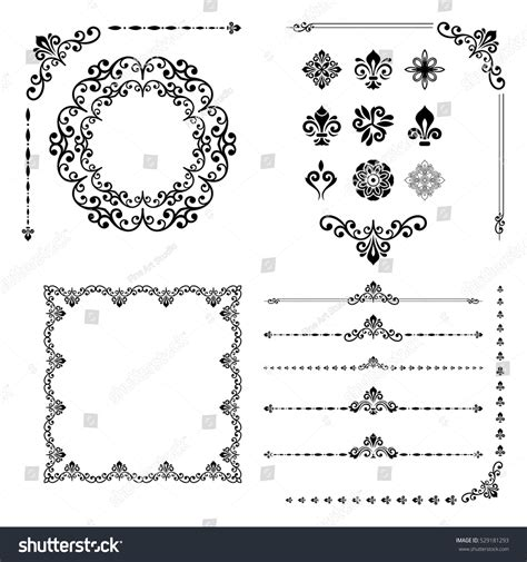 vintage menu design elements vector set vintage set classic elements different vector stock vector