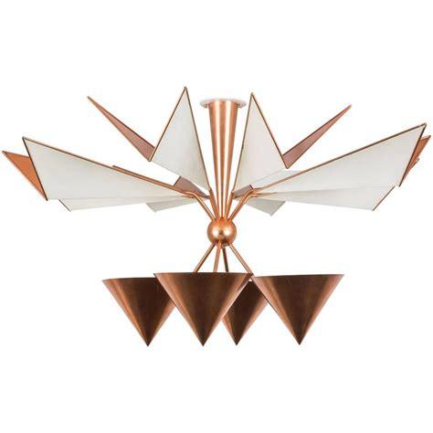 copper ceiling l copper flush mount ceiling light for sale at 1stdibs
