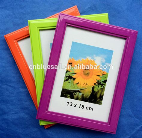 home decor plastic photo frame colorful pvc photo frame
