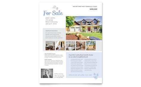 Real Estate Listing Flyer Template Design Real Estate Listing Template