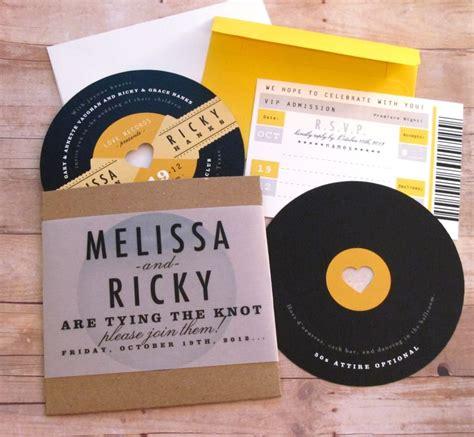 vinyl cd wedding invitations a rockin evening helpful tips on planning a
