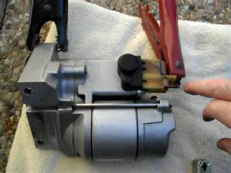 bench testing a starter how to bench test a starter motor youtube
