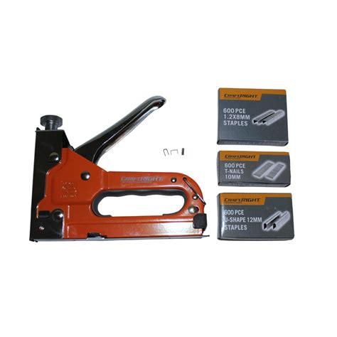 Gun Tacker Toho 3way craftright 12mm 3 way staple gun with 1800 staples bunnings warehouse