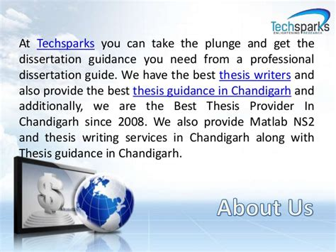 dissertation provider thesis help and thesis writer in chandigarh techsparks