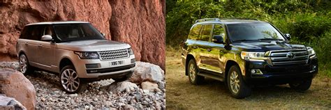 to 2016 land rover range rover vs 2016 toyota