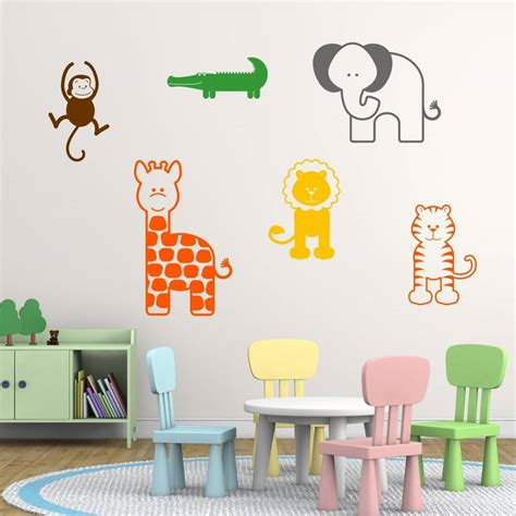 Wall Stickers For Nursery Uk Wall Murals Nursery Animal Wall Decals