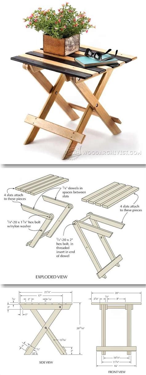 wooden folding table plans folding table plans furniture plans and projects