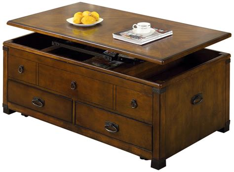 rectangle coffee table with drawers rustic rectangle lift top coffee table with drawers