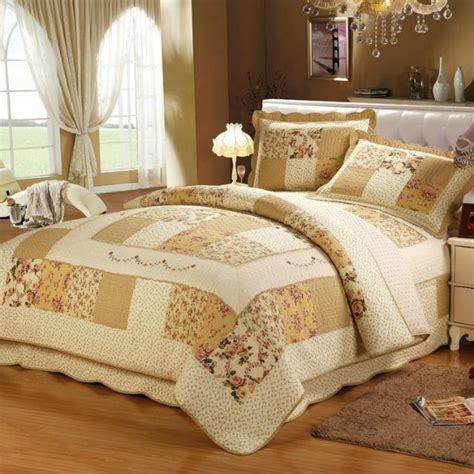 Patchwork Comforter Set - aliexpress buy new 3pcs cotton patchwork bedspread