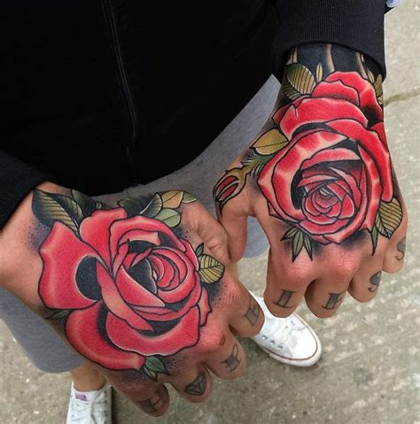 red handed tattoo roses tattoos roses