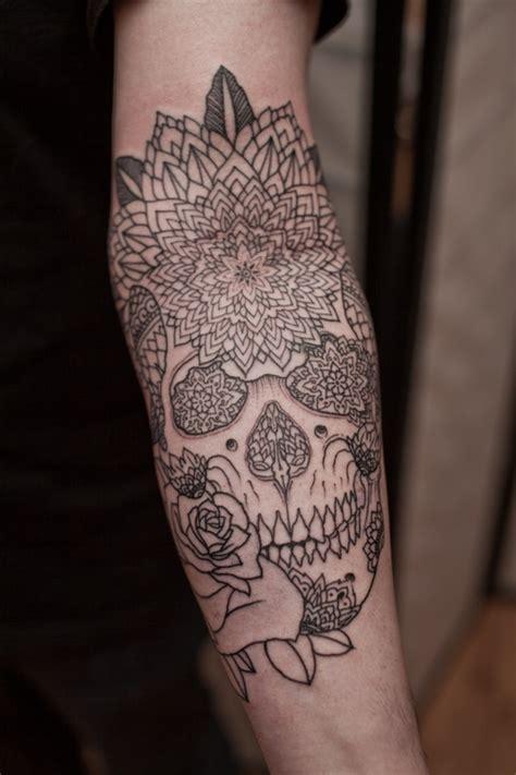 mandala tattoo quarter sleeve skull mandala tattoo on left sleeve