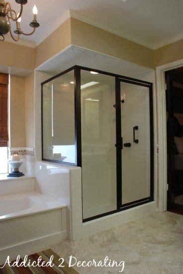 Brass Shower Doors This Was A Brass Shower Enclosure That Was Spray Painted Master Bath Pinterest