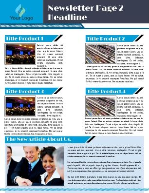 Free Newsletter Templates Pageprodigy Company Newsletter Template