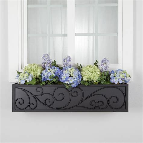 window box cage wayfarer handcrafted wrought iron flower cages hooks
