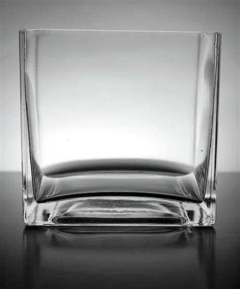 5 Square Vase by 12 Clear Glass 5 Quot Square Vases