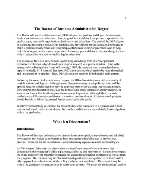 dba dissertation wilmington dba dissertation guide