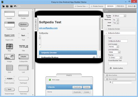 layout builder android easy to use android app builder download softpedia