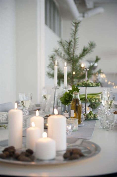 tavola natalizia apparecchiata decorazioni di natale in bianco foto 6 40 design mag