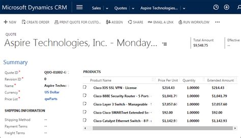 dynamics crm quote template quotewerks 174 microsoft dynamics crm integration quotes