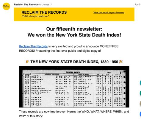 Reclaim The Records New York Index Reclaim The Records Frees The New York State Index History To Ceramic