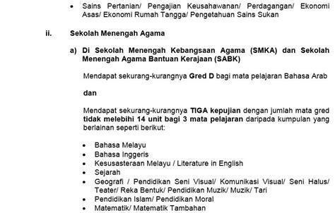 rayuan kemasukan tingkatan 6 2015 syarat syarat kelayakan untuk kemasukan ke tingkatan 6