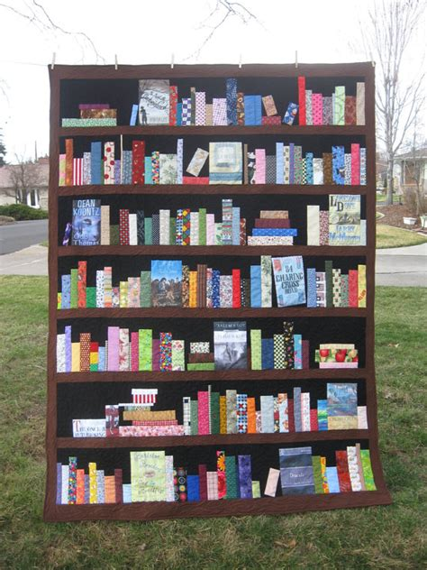 Quilt Books by Custom Bookcase Quilt Bookshelves Books By Sewitseamscreations