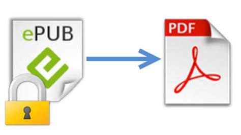 format epub drm convert drm epub to pdf