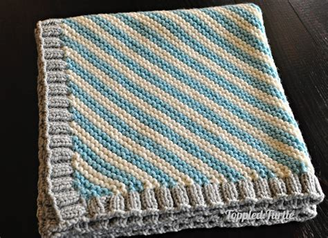 knitting patterns for blankets toppled turtle bias striped knit baby blanket free pattern