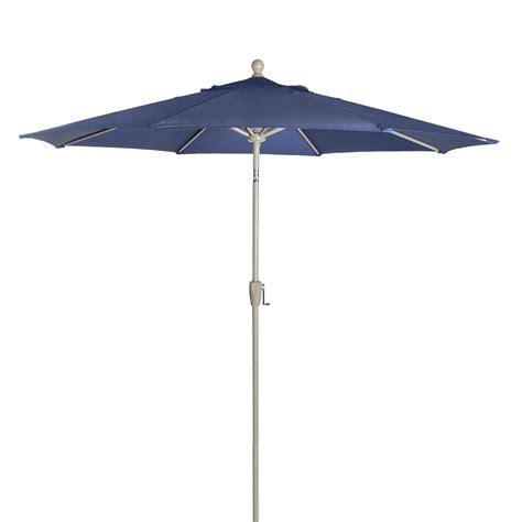 astonica 50140706 9ft navy blue aluminum patio umbrella ebay