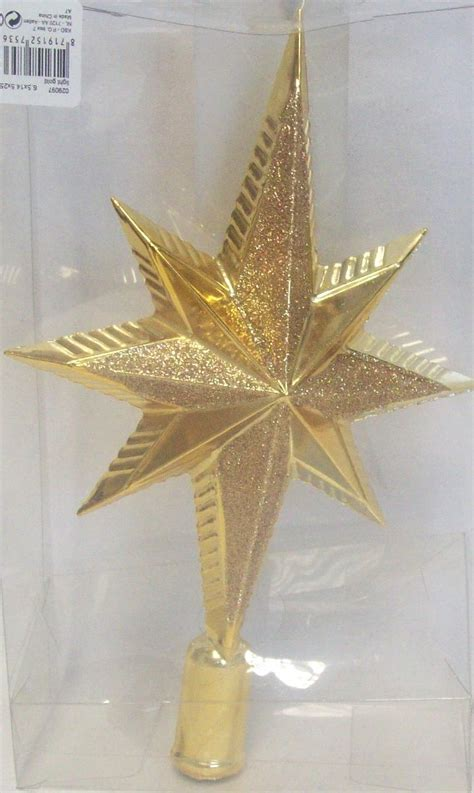 luxury christmas tree toppers decoris luxury glitter shatterproof tree topper decoration gold