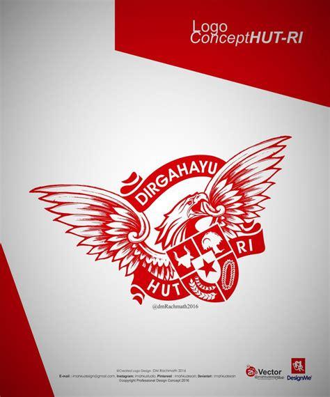 desain brosur hut ri hut ri 72 logo versi desain garuda jaya by imahkudesain on