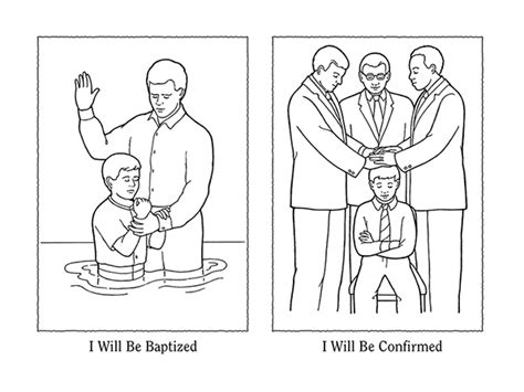 coloring pages baptism lds nursery manual page 111 i will be baptized and confirmed