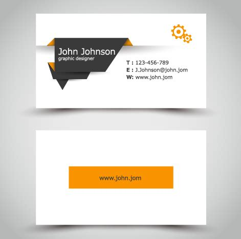 business card template eps yellow style business cards anyway surface template vector