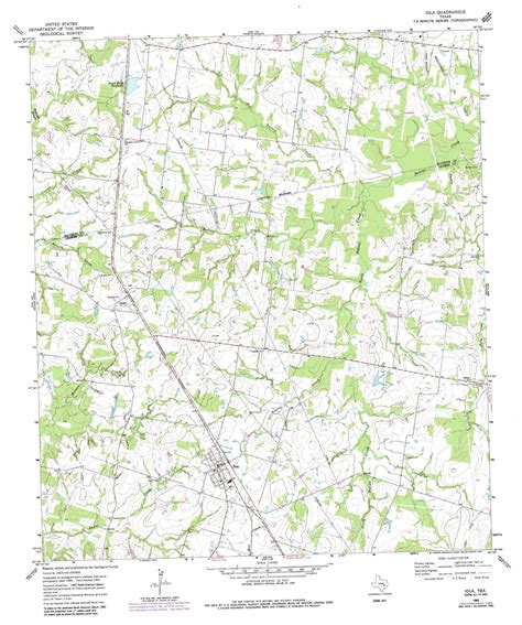 iola texas map iola topographic map tx usgs topo 30096g1