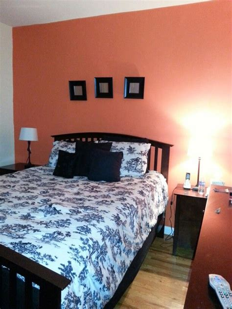 coral bedroom walls my coral accent wall bedroom painting the house pinterest