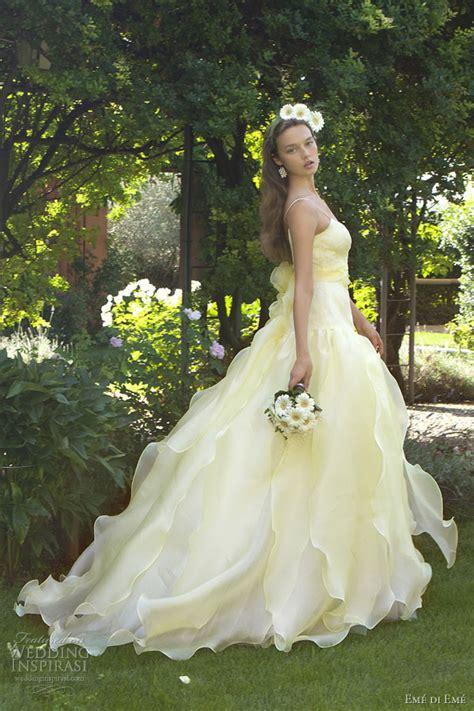 pictures of yellow wedding dresses em 233 di em 233 wedding dresses 2013 wedding inspirasi