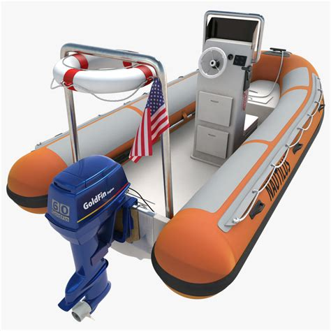 fishing rigid inflatable boat rigid inflatable boat 3d 3ds