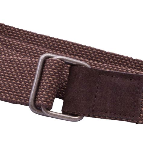 brown webbing and leather d ring belt national webbing