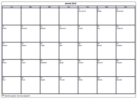 Calendrier 2016 Vierge Mensuel Calendrier Mensuel 2016 224 Imprimer Vierge Avec Les F 234 Tes