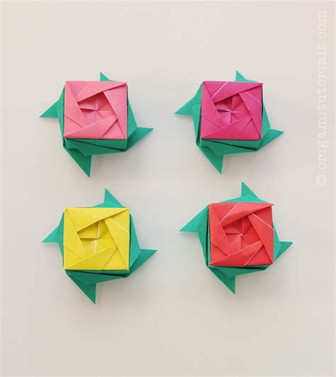 Origami Roses Tutorial - origami roses www pixshark images galleries with a