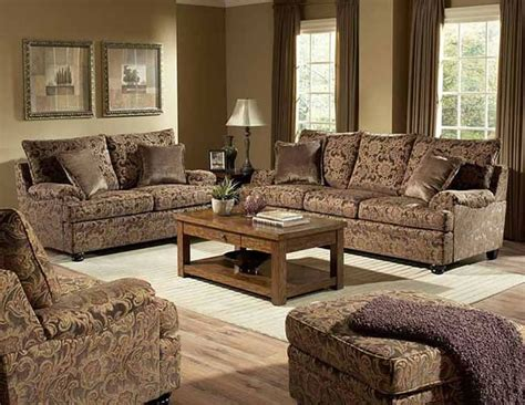 Floral Living Room Furniture | rich floral chenille traditional living room sofa