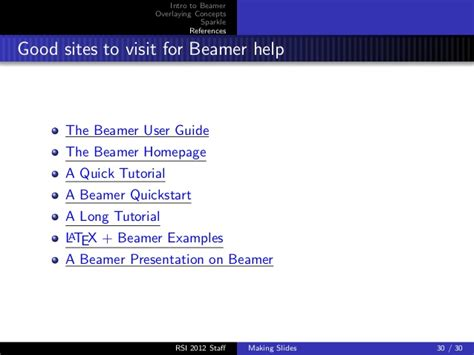 latex tutorial for presentation beamer tutorial