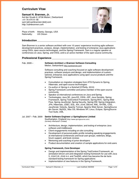 Professional Cv Writing by 8 How To Write A Professional Curriculum Vitae Bussines