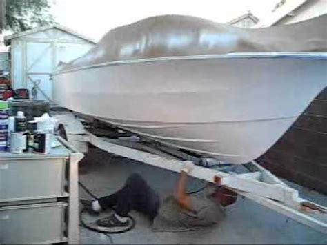 boat bottom spray paint time lapse 64x spraying hok urethane bc cc paint on a