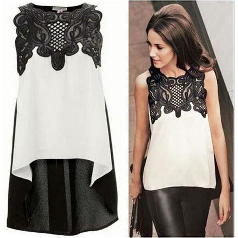 Blouse Wanita Chiffon Size L 5zwlab blouse wanita froral lace chiffon size s white jakartanotebook