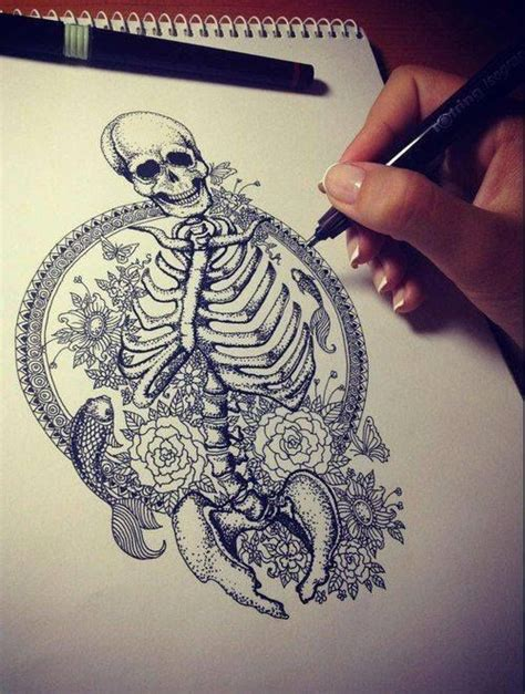 tattoo koi fish skull awesome tattoo idea sketch koi skeleton tattoo