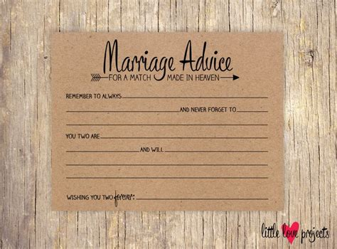 card writing template newlyweds wedding advice cards advice for the and groom
