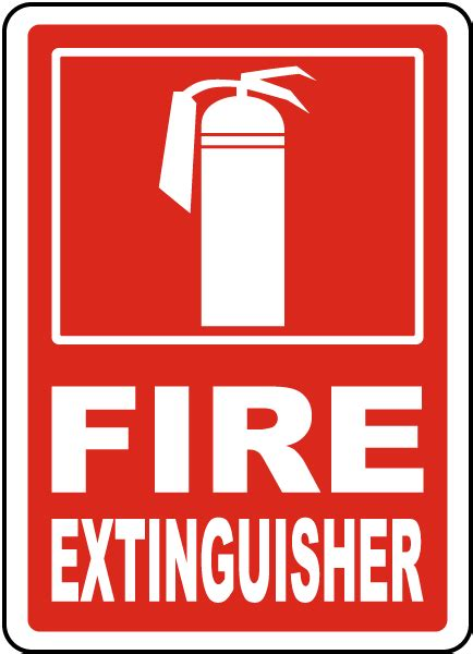 Sign Label Extinguisher extinguisher sign r5433 by safetysign